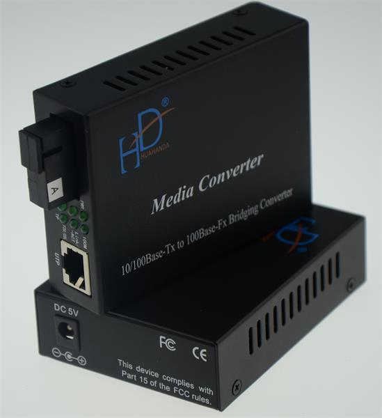 10/100m Fiber Ethernet Media Converter Single Mode With 120KM Distance
