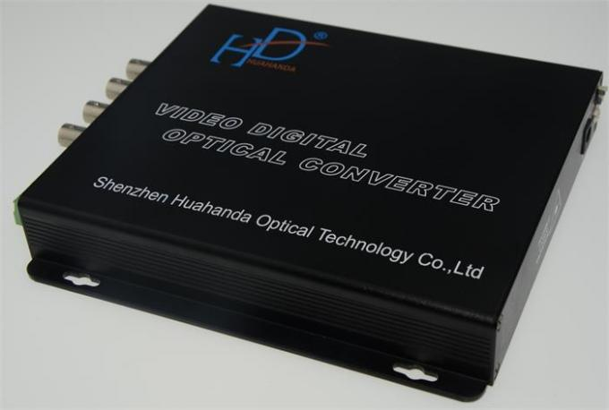 AHD / DVI / CVI Video Audio To Optical Converter With Data BNC Connector