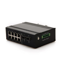 China Manager Copper Rj45 Ethernet Switch 10 Port For Security Protection System supplier