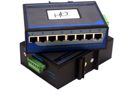 China Mini Industrial Ethernet Switch  Flow Control 12v , Gigabit Ethernet Switch 8 Port supplier
