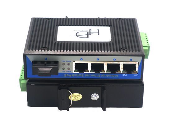 China RJ45 1 Port SFP Fiber Ethernet Switch 12~48V With Full / Half Duplex Mode supplier