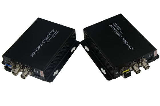 China 1 Channel Video Hd Sdi To Fiber Converter , Fiber Optic Transmitter And Receiver AC90~240V supplier