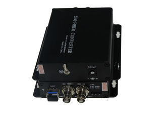 China BNC Video To Fiber Converter , HD SDI to fiber optic converter with ST connector supplier