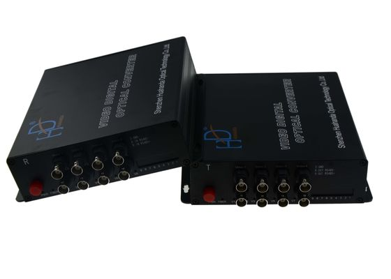 China SM 20km Video To Fiber Converter , 2 SC Full HD Video Converter AC DC Powered supplier