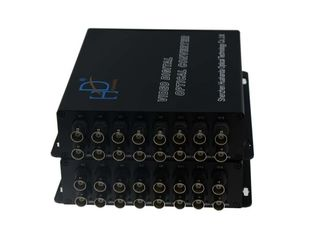 China Video To Fiber Optic Converter 16 Channel , Cctv Camera Video Converter supplier