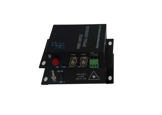 China 2 Channels 8bit BNC AHD Fiber Converter High-Resolution With 0~95% Humidity supplier