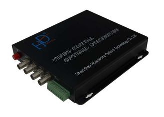 China AHD / DVI / CVI Video Audio To Optical Converter With Data BNC Connector supplier