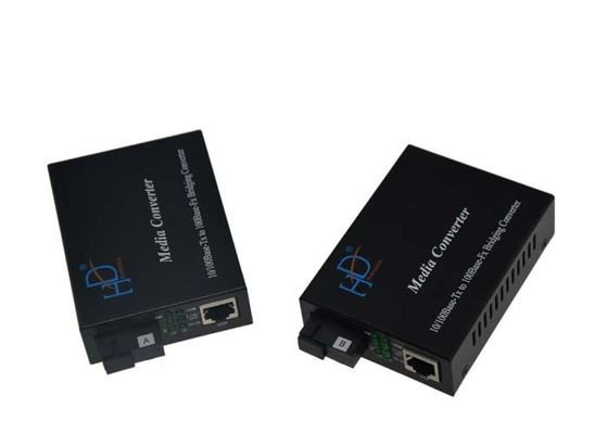 China 10/100m Fiber Ethernet Media Converter Single Mode With 120KM Distance supplier