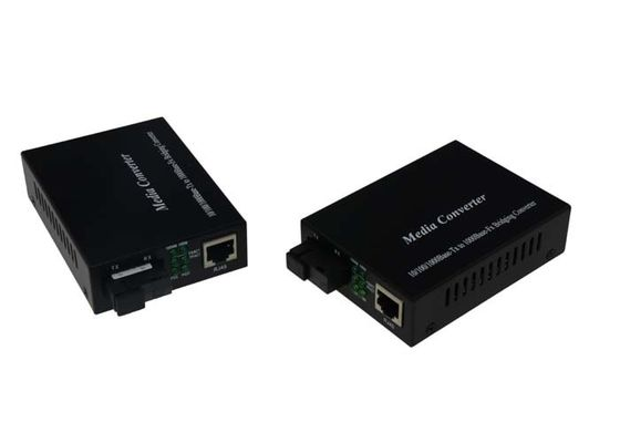 China 10 100 1000M Gigabit Media Converter Multimode 550m SC / ST / FC Optional supplier