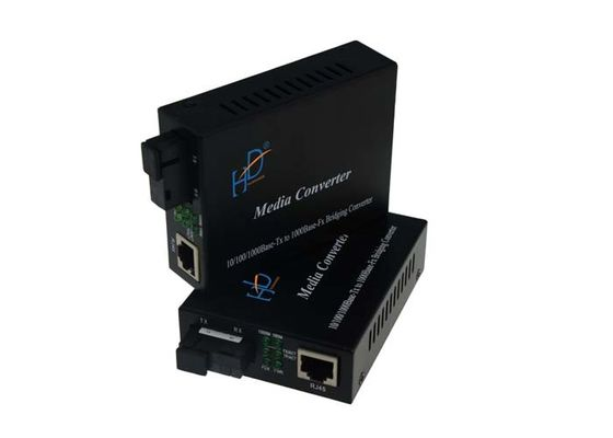 China 1000base Fx Rj45 Single Fiber Gigabit Media Converter Single Mode 20-60km Distance supplier