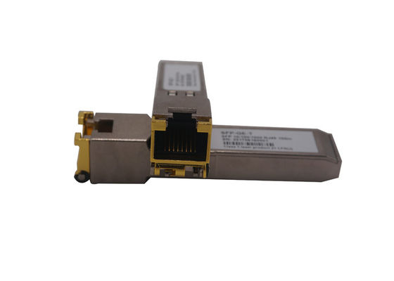 China Copper Gigabit Ethernet SFP Fiber Transceiver 10/100/1000 base RJ45 fiber Optical Transceiver supplier