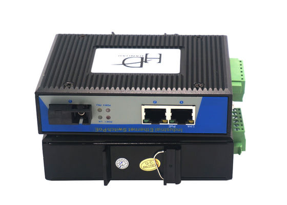 China Fiber Optic To RJ45 Industrial POE Switch 10Gbps Bandwidth With  5%~95 % Humidity distributor