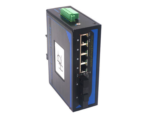 China 2 Port Gigabit Outdoor Ethernet Switch , Industrial Fiber Optic Network Switch distributor