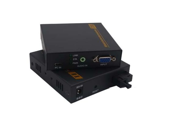 China 1 Channel Fiber Optic HDMI Extender 24/36bit With RS232 Data , FCC ISO Listed factory