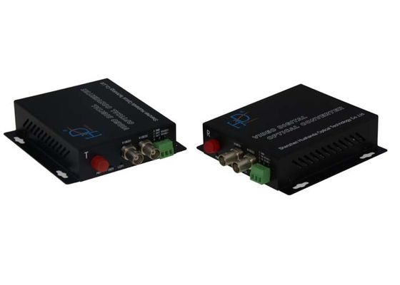 China 2 Ch BNC To Fiber Media Converter 1080p/30Hz With Simplex Data Transmission factory