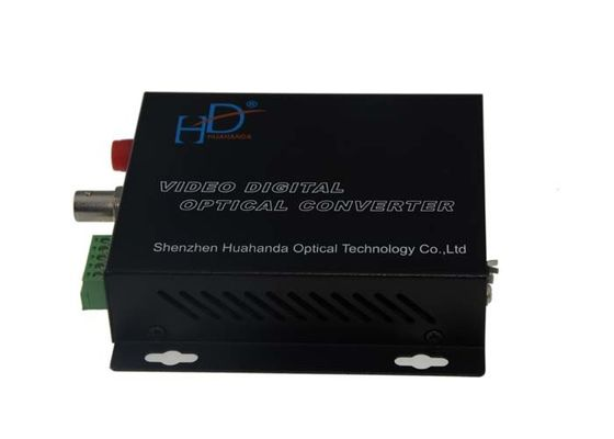 China CVI / TVI / AHD Video To Fiber Optic Converter , CCTV Camera Video Converter factory