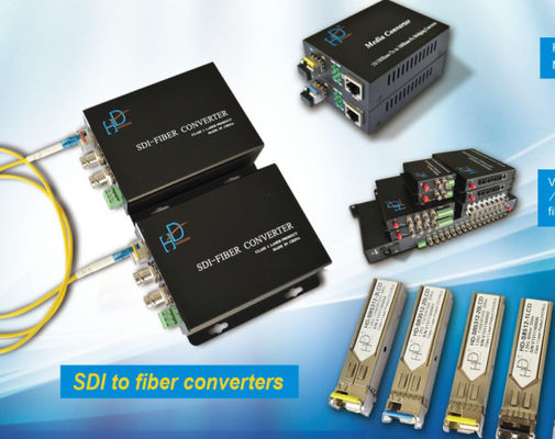 China HD/3G SDI Fiber Converter RS485 data to fiber HD video optical converter distributor
